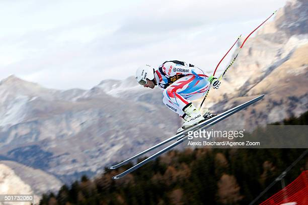 Adrien Theaux of France competes during the Audi FIS Alpine Ski World Cup Men's Downhill Training on December 17 2015 in Val Gardena Italy