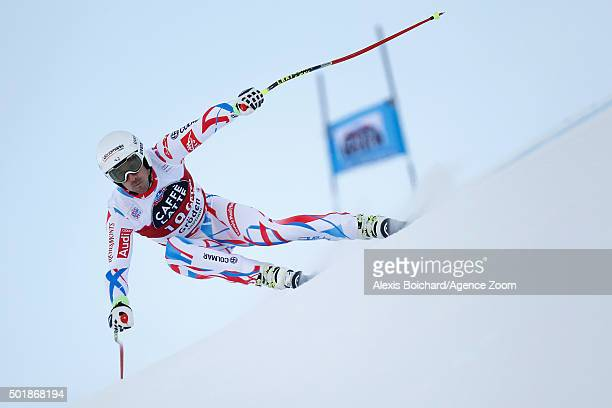 Adrien Theaux of France competes during the Audi FIS Alpine Ski World Cup Men's SuperG on December 18 2015 in Val Gardena Italy