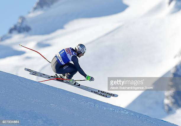 Adrien Theaux of France competes during the Audi FIS Alpine Ski World Cup Men's Downhill on December 3 2016 in Val d'Isere France