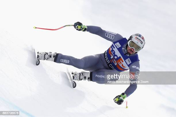 Adrien Theaux of France competes during the Audi FIS Alpine Ski World Cup Men's Super G on December 1 2017 in Beaver Creek Colorado