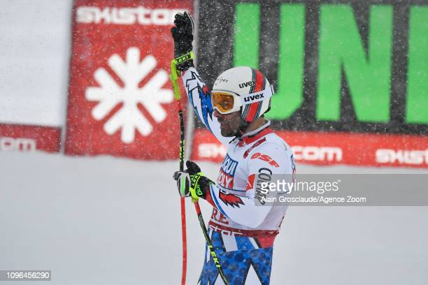Adrien Theaux of France competes during the FIS World Ski Championships Men's Downhill on February 9 2019 in Are Sweden