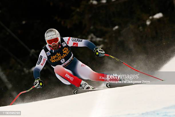 Adrien Theaux of France in action during the Audi FIS Alpine Ski World Cup Men's Downhill on December 27, 2019 in Bormio Italy.