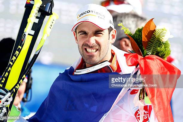 Adrien Theaux of France wins the bronze medal during the FIS Alpine World Ski Championships Men's SuperG on February 05 2015 in Vail/Beaver Creek USA