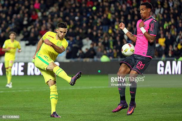 Adrien Thomasson of Nantes during the Ligue 1 match between Fc Nantes and Toulouse Fc at Stade de la Beaujoire on November 5 2016 in Nantes France