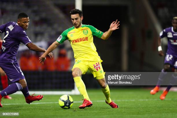 Adrien Thomasson of Nantes during the Ligue 1 match between Toulouse and Nantes at Stadium Municipal on January 17 2018 in Toulouse