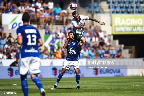 Official ball during the French Ligue 1 match between Strasbourg and Saint Etienne at La Meinau Stadium on August 19 2018 in Strasbourg France