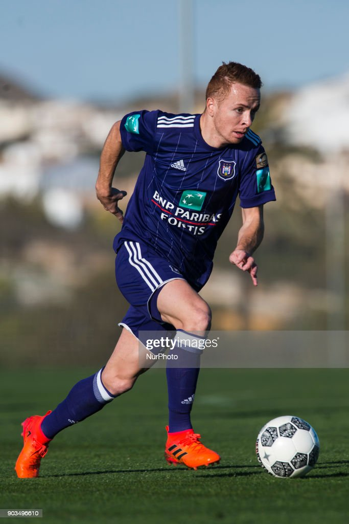 Adrien Trebel during the friendly match between FC Utrecht vs. RSC Anderlecht at La Manga Club, Murcia, SPAIN. 10th January of 2018.