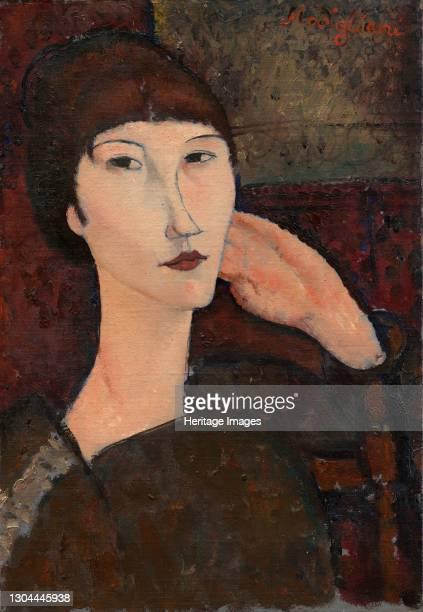 Adrienne , 1917. Artist Amadeo Modigliani.