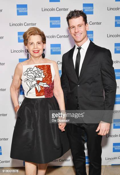 Adrienne Arsht and Luke Hawkins attend the Winter Gala at Lincoln Center at Alice Tully Hall on February 13 2018 in New York City