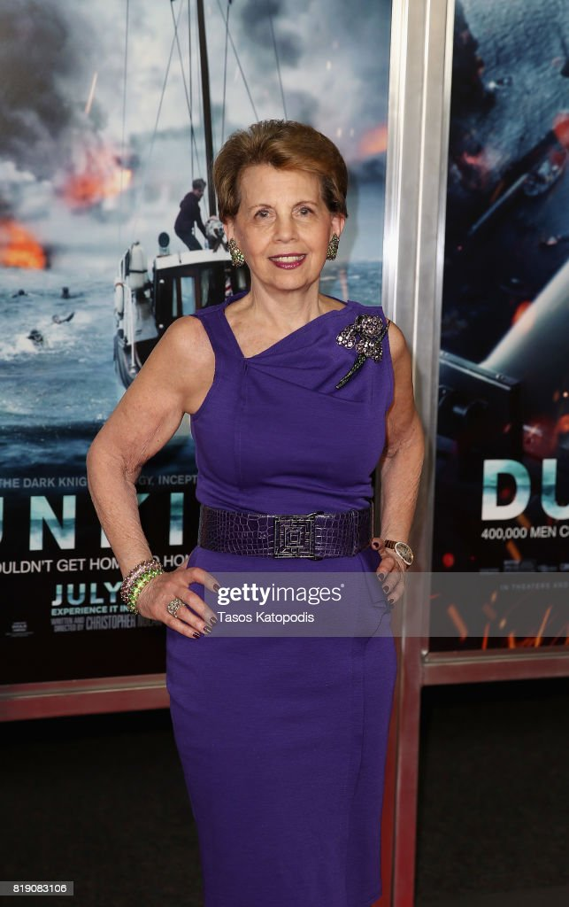 Adrienne Arsht attends the red carpet premiere of 'Dunkirk' at the Smithsonian Museum on July 19, 2017 in Washington, DC.