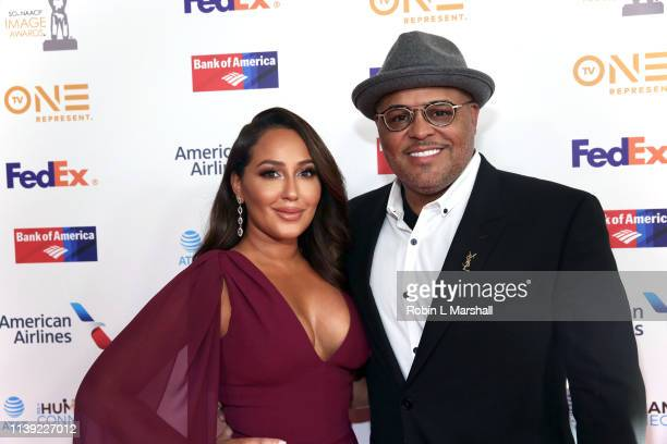 Adrienne Bailon and husband Israel Houghton attend the 50th NAACP Image Awards Dinner at The Beverly Hilton on March 29 2019 in Beverly Hills...