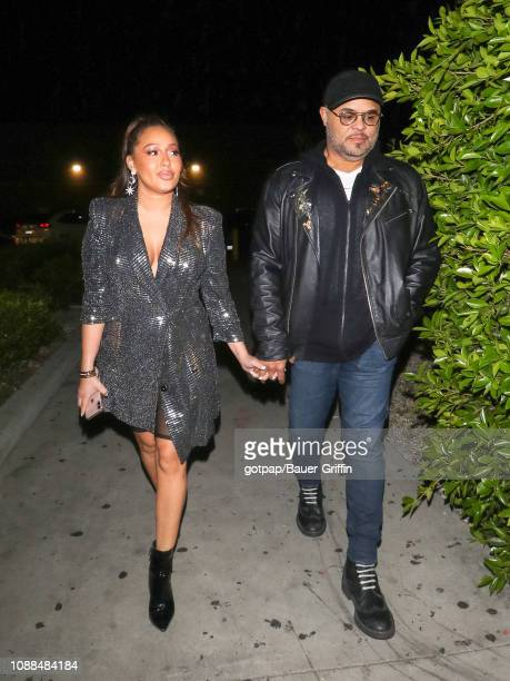 Adrienne Bailon and Israel Houghton are seen on January 24 2019 in Los Angeles California
