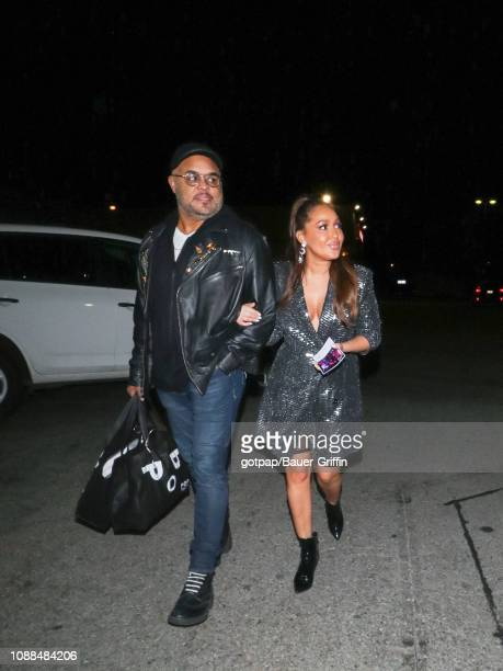 Adrienne Bailon and Israel Houghton are seen on January 25 2019 in Los Angeles California