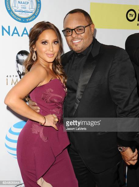 Adrienne Bailon and Israel Houghton attend the 48th NAACP Image Awards at Pasadena Civic Auditorium on February 11 2017 in Pasadena California