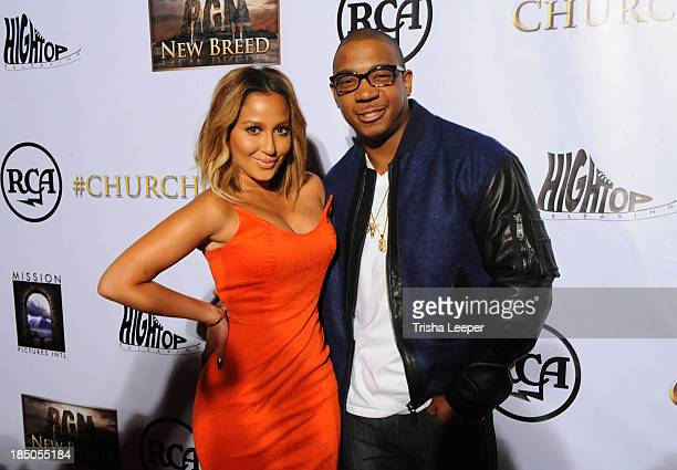 Adrienne Bailon and Ja Rule attend the 'I'm In Love With A Church Girl' premiere at California Theatre on October 15 2013 in San Jose California