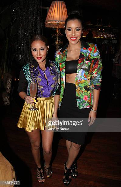 Adrienne Bailon and Julissa Bermudez attend the 'A Night With Empire Girls Julissa Adrienne' screening at Bishops Barrons on June 1 2012 in New York...
