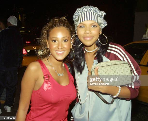 Adrienne Bailon and Kiely Williams of 3LW during Blender Magazine and Nelly Celebrate the Release of Murphy Lee's Debut Album 'Unwrapped' at Vue in...