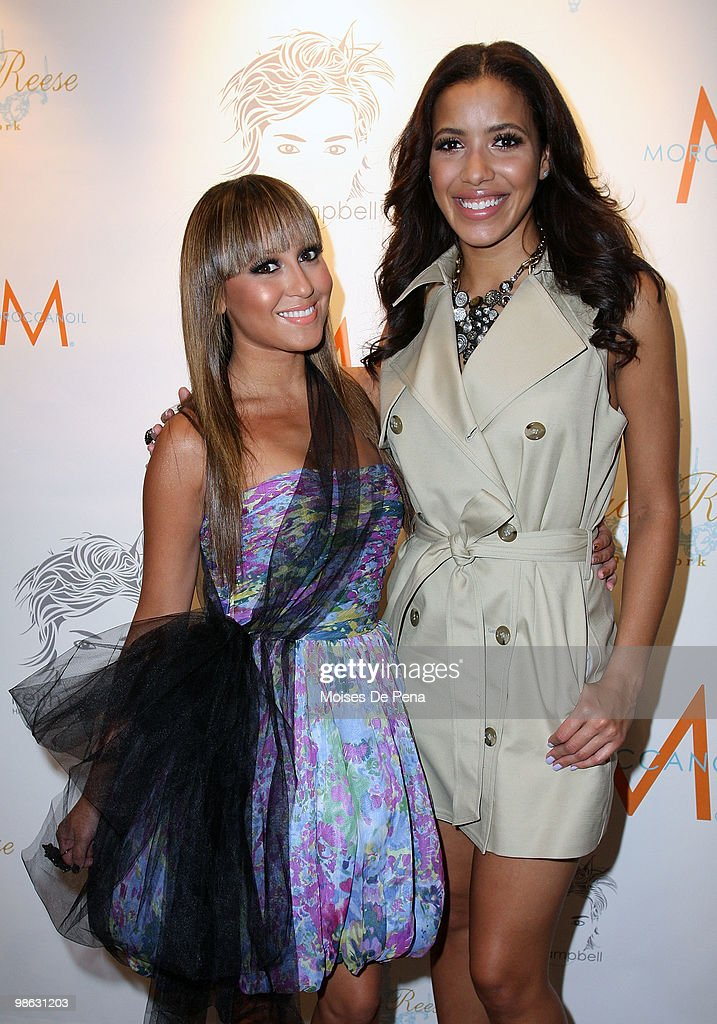 Adrienne Bailon and Media Personality Julissa Bermudez attends the 'Cuts Of Our Infirmities' book launch party at the Tracy Reese Boutique on April 22, 2010 in New York City.