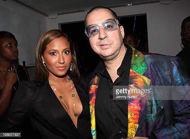 Adrienne Bailon and Noah G Pop attend the DEF JAM 25th anniversary celebration at Juliet on September 12 2009 in New York City