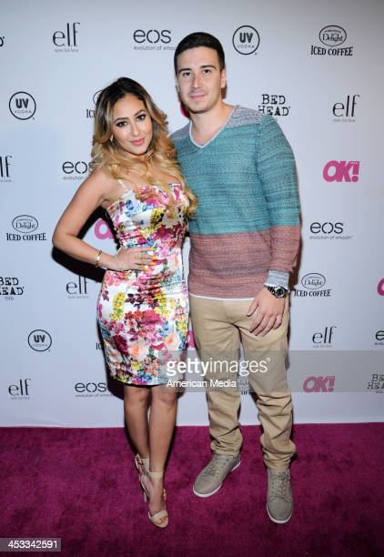 Adrienne Bailon and Vinny Guadagnino attend OK Magazine's So Sexy Party on May 1 2013 in New York City