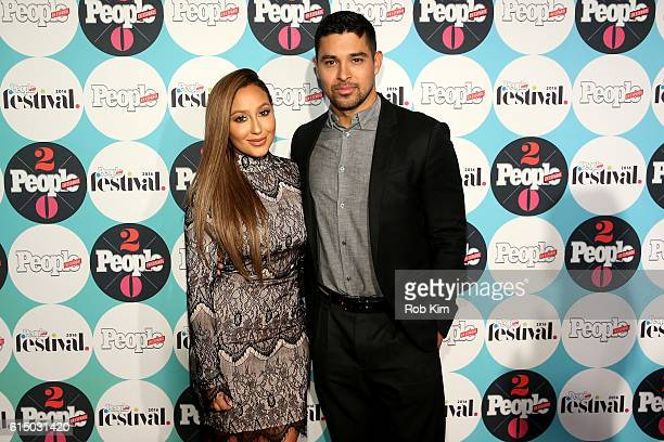 Adrienne Bailon and Wilmer Valderrama attend the 5th Annual Festival PEOPLE En Espanol Day 2 at the Jacob Javitz Center on October 16 2016 in New...