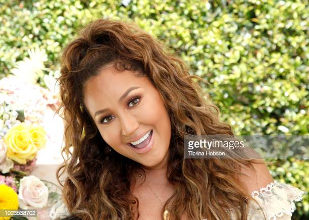 Adrienne Bailon attends a BackToSchool block party at The Park at The Grove on August 25 2018 in Los Angeles California