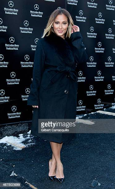 Adrienne Bailon attends Fall 2014 Mercedes Benz Fashion Week on February 6 2014 in New York City