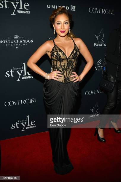 Adrienne Bailon attends Icons Of Style Gala Hosted By Vanidades at Mandarin Oriental Hotel on September 27 2012 in New York City