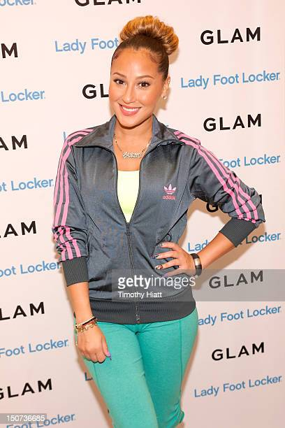 Adrienne Bailon attends Lady Foot Locker celebrates New Look with 'Empire Girls' star Adrienne Bailon at North Riverside Park Mall on August 25 2012...