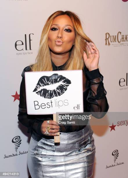 Adrienne Bailon attends OK Magazine's 'So Sexy' NY party at Marquee on May 28 2014 in New York City
