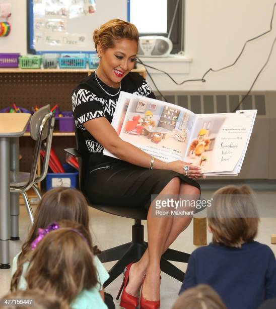 Adrienne Bailon attends 'Read Across America Day' Event at Beekman Hill International School on March 7 2014 in New York City