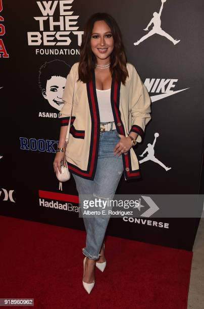 Adrienne Bailon attends the 2018 Rookie USA Show at Milk Studios on February 15 2018 in Los Angeles California