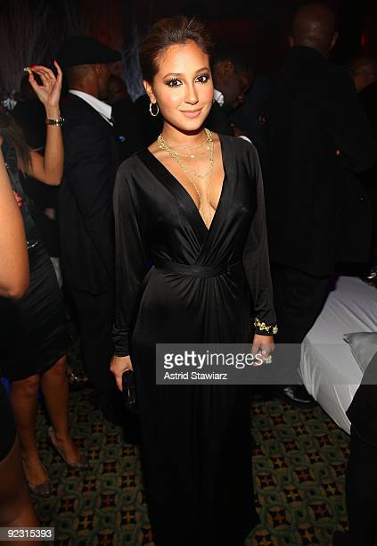 """Adrienne Bailon attends the 30th Birthday Bash """"Cold as Ice"""" at Cipriani 42nd Street on October 17, 2009 in New York City."""