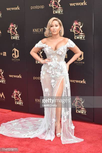 Adrienne Bailon attends the 46th annual Daytime Emmy Awards at Pasadena Civic Center on May 05 2019 in Pasadena California