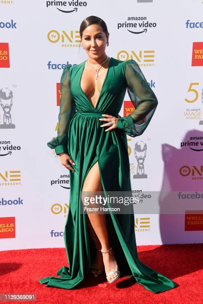 Adrienne Bailon attends the 50th NAACP Image Awards at Dolby Theatre on March 30 2019 in Hollywood California