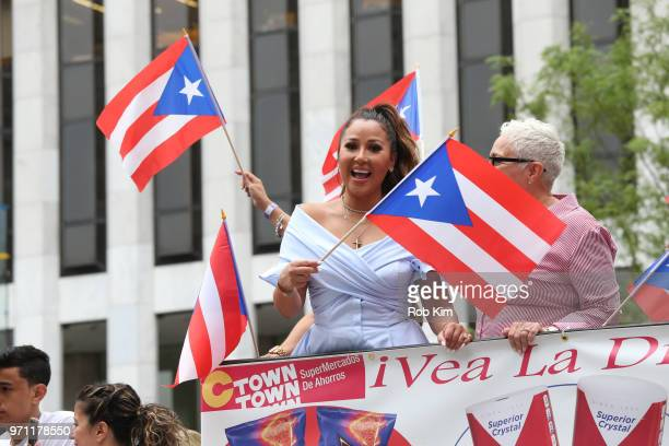 Adrienne Bailon attends the 61st Annual National Puerto Rican Day Parade on June 10 2018 in New York City