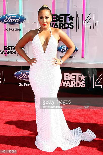 Adrienne Bailon attends the 'BET AWARDS' 14 held at Nokia Theatre LA Live on June 29 2014 in Los Angeles California