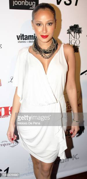 Adrienne Bailon attends the I Want Now fashion show benfiting Haiti at Tenjune on March 25 2010 in New York City