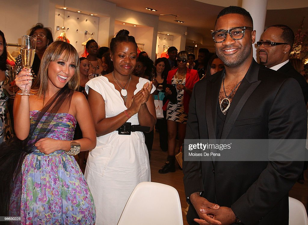 Adrienne Bailon, Kieth Campbell and Designer Tracy Reese (c) attend the 'Cuts Of Our Infirmities' book launch party at the Tracy Reese Boutique on April 22, 2010 in New York City.