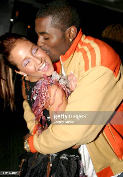 Adrienne Bailon of 3LW and Loon during 2003 Vibe Awards After Party at Viceroy Hotel in Los Angeles California United States