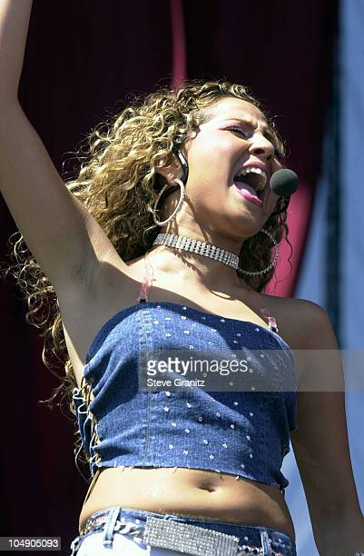 Adrienne Bailon of 3LW during 1027 KIISFM's 2001 Wango Tango at Dodger Stadium in Los Angleles California United States