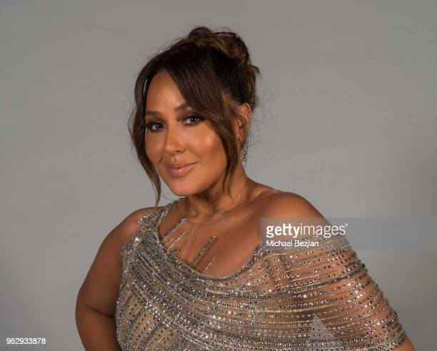 Adrienne Bailon poses for portrait at 45th Daytime Emmy Awards Portraits by The Artists Project Sponsored by the Visual Snow Initiative on April 29...