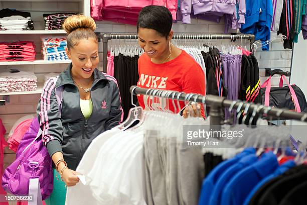 Adrienne Bailon shops as Lady Foot Locker celebrates New Look with 'Empire Girls' star Adrienne Bailon at North Riverside Park Mall on August 25 2012...