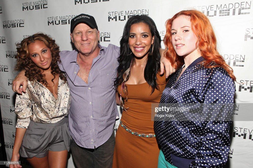 Adrienne Bailon, Steve Madden, Julissa Bermudez and Katy B attend the Steve  Madden Music