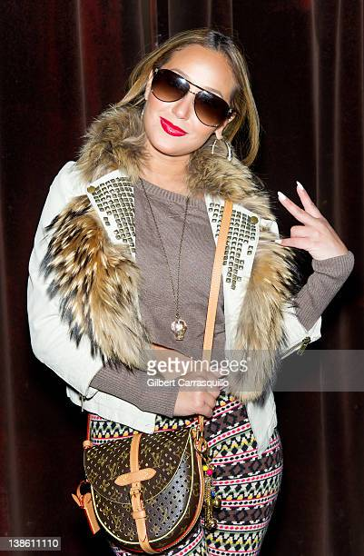 Adrienne Bailon visits The Ami James Ink Tattoo PopUp Shop at the Empire Hotel on February 9 2012 in New York City