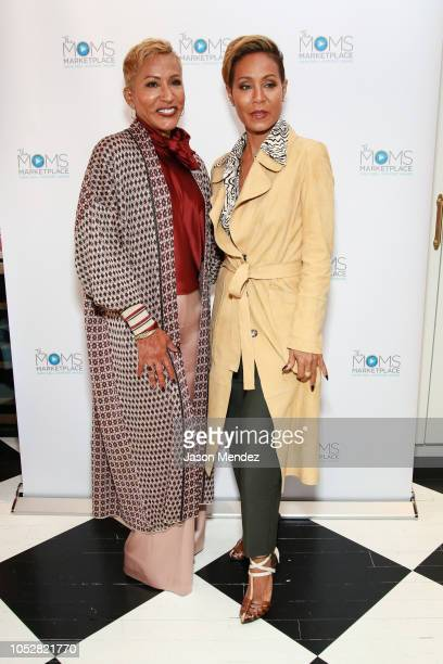 Adrienne BanfieldJones and Jada Pinkett Smith on October 23 2018 in New York City