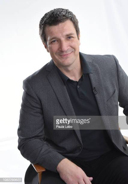 GMA DAY Adrienne Bankert interviews Nathan Fillion on Good Morning America on Tuesday October 16 airing on Walt Disney Television via Getty Images...