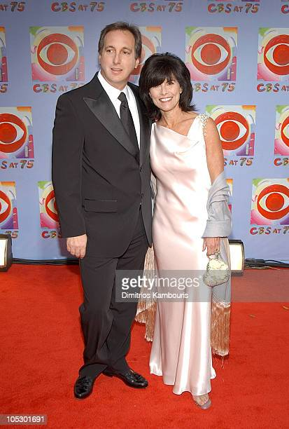 Adrienne Barbeau and guest during CBS at 75 at Hammerstein Ballroom in New York City New York United States