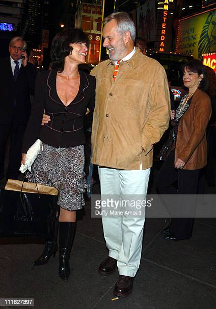 Adrienne Barbeau and Walter Bobbie during 'A Naked Girl on the Appian Way' Broadway Opening Night Arrivals at American Airlines Theater in New York...