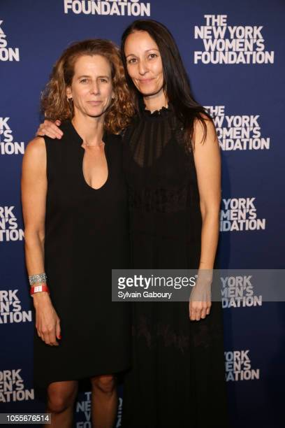Adrienne Becker and Rachel Gould attend The New York Women's Foundation Radical Generosity Gala at The Plaza on October 15 2018 in New York City